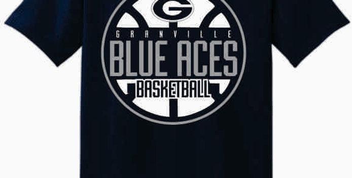 GHS Basketball Navy Cotton T-Shirt