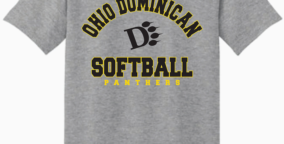 ODU Softball Gildan Grey Cotton T shirt