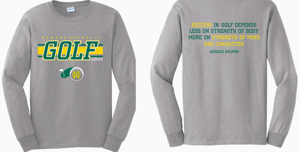 Newark Catholic Grey Cotton Longsleeve T Shirt