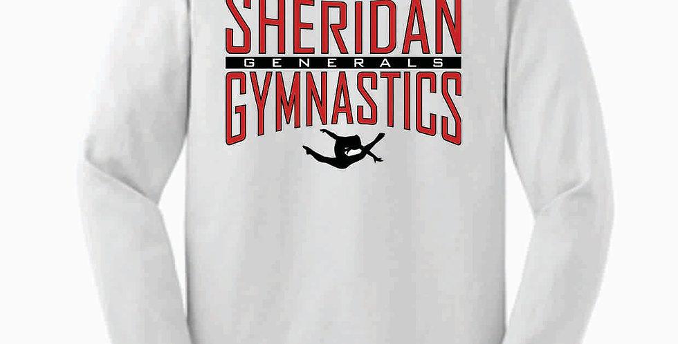 Sheridan Gymnastics Gildan Cotton White Longsleeve
