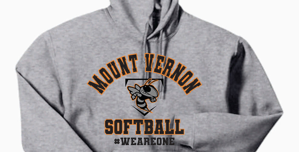 MV Softball Grey Cotton Hoody