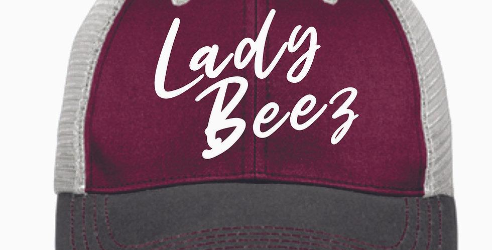 Lady Beez Maroon Vintage Snap Back Cap