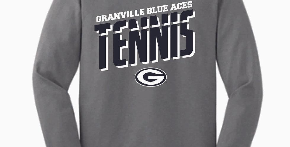 Granville Tennis Grey Cotton Longsleeve
