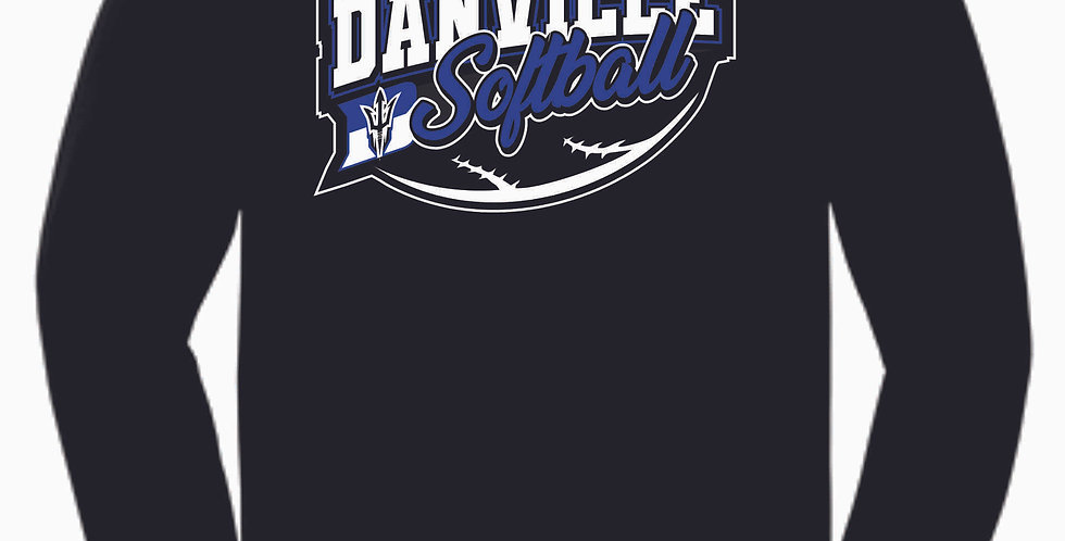 Danville Softball Black Cotton Longsleeve Tee