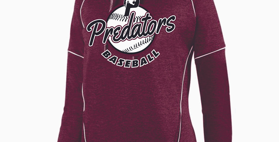 Predators Maroon Script Ladies Hood