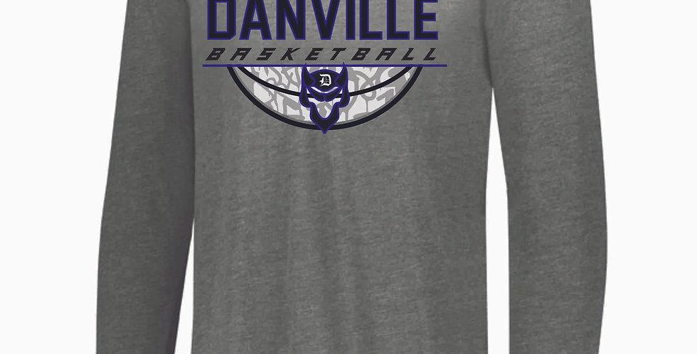 Danville Basketball Grey Tri Blend Longsleeve