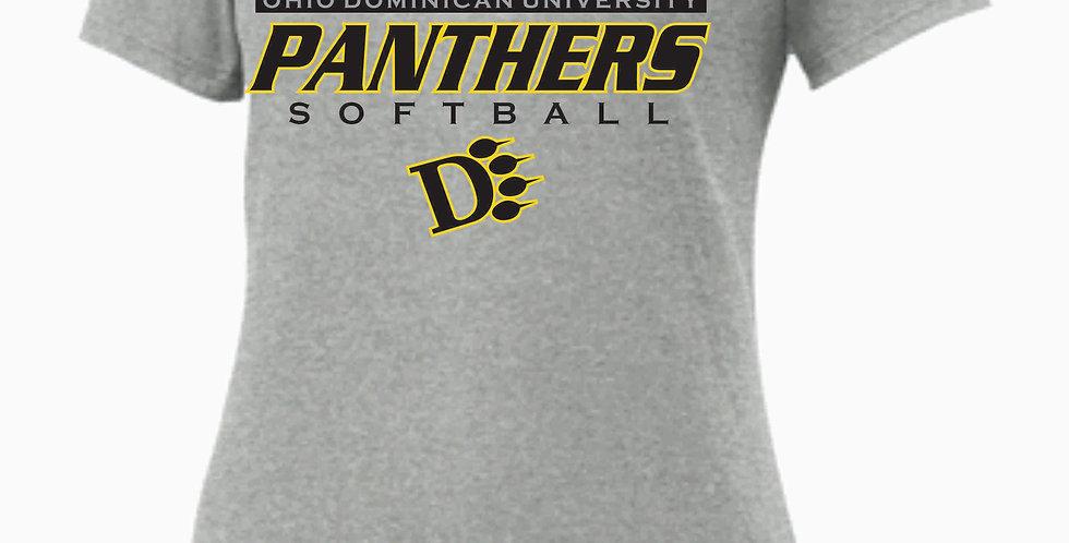 ODU Softball Ladies Grey Simple Nike T Shirt