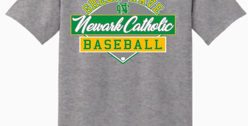 Newark Catholic Baseball Grey Cotton T Shirt