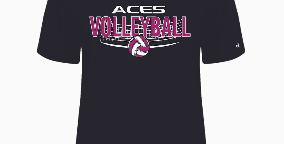 Aces Volleyball Original Black Dri Fit Shortsleeve