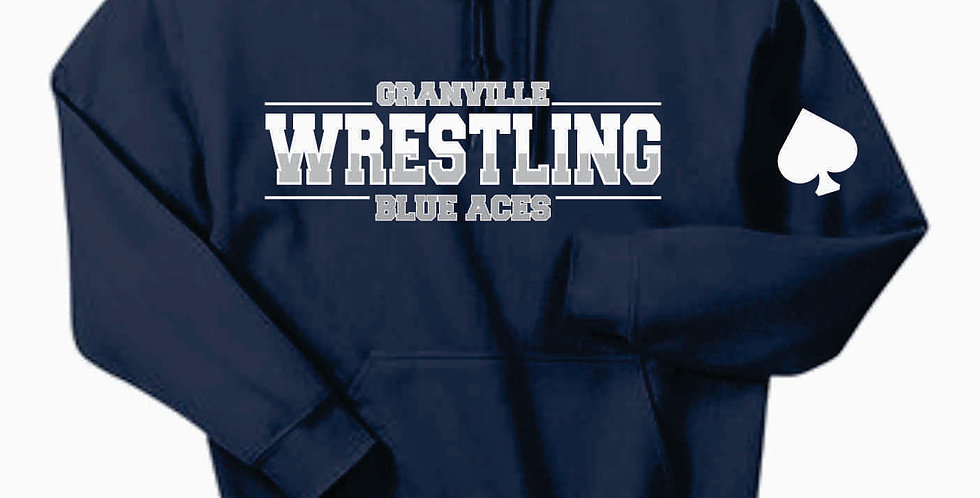 Granville Wrestling Navy Hooded Sweatshirt
