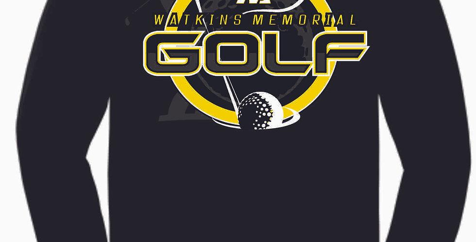 Watkins Golf Black Cotton Longsleeve T Shirt