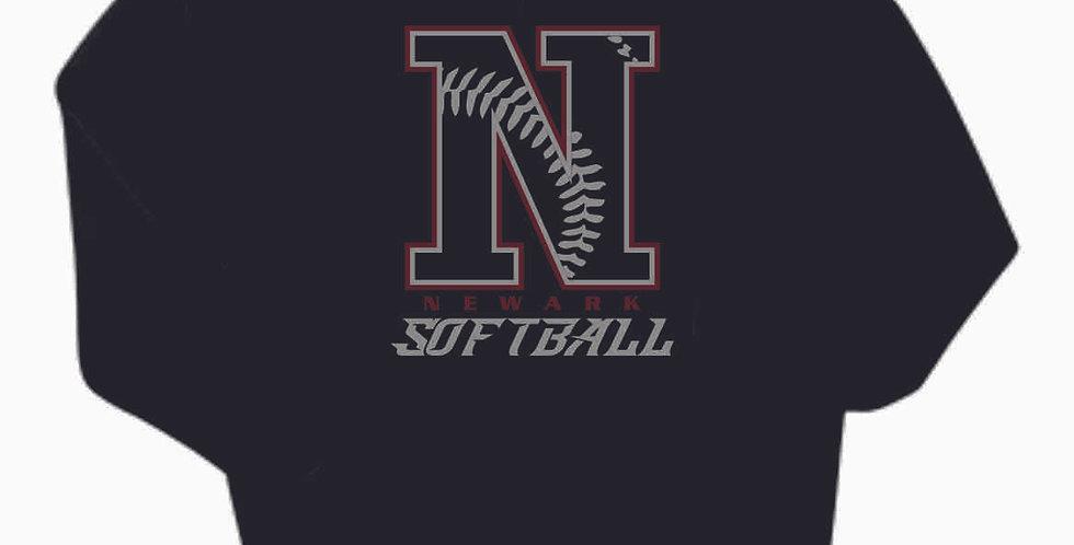 Newark Softball Black Cotton Hoody