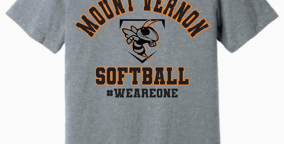 MV Softball Soft Grey T shirt