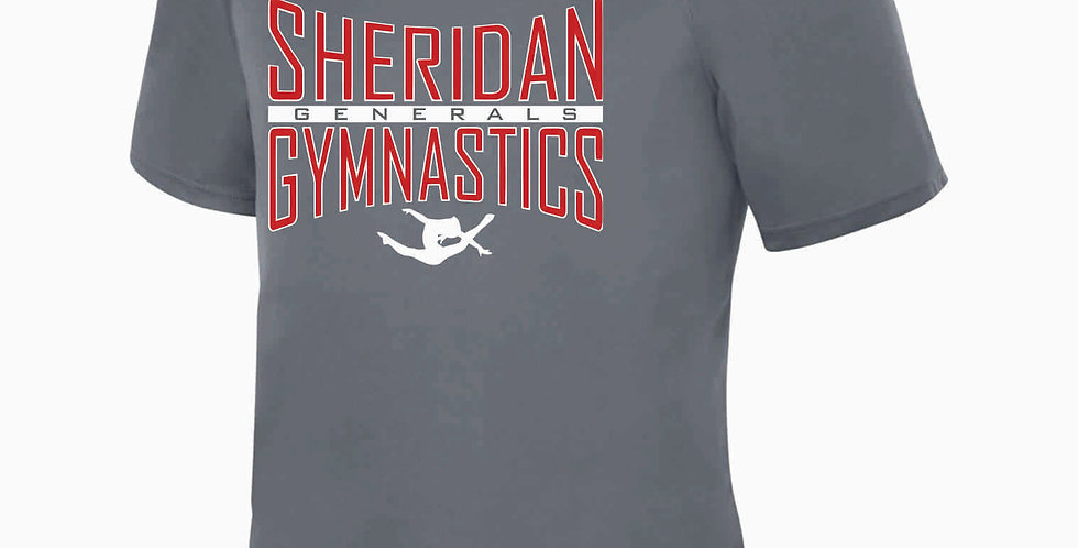 Sheridan Gymnastics Grey Dri Fit Shortsleeve