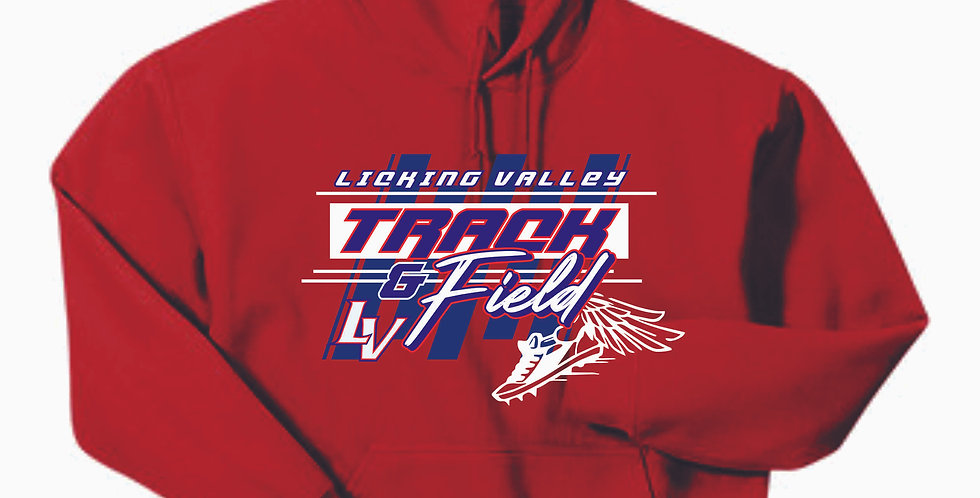 Licking Valley Track and Field Red Hoody
