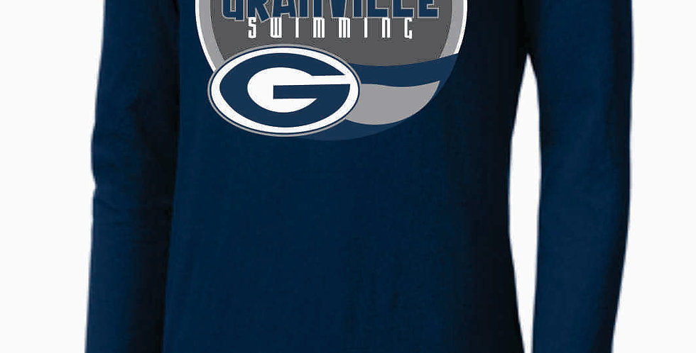 GHS Swimming Navy Nike Core Cotton Long Sleeve