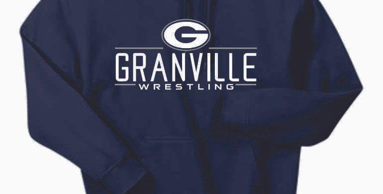 Granville Wrestling Navy Cotton Hoody