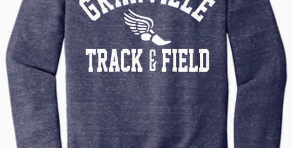 Granville Track and Field Navy Soft Crewneck