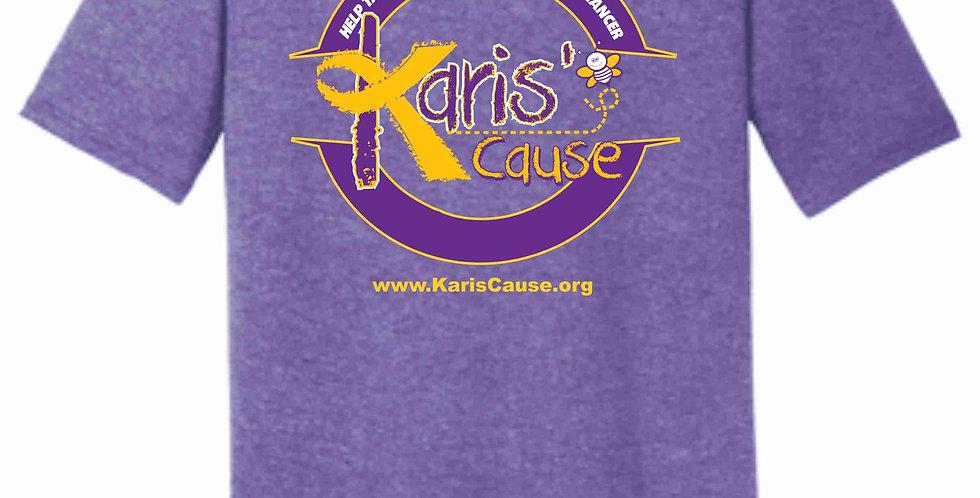 Karis's Cause Heather Purple Soft T shirt