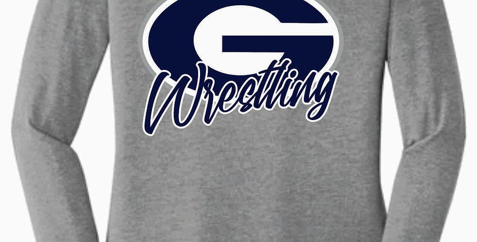 Granville Wrestling Women's Longsleeve Grey Simple T shirt