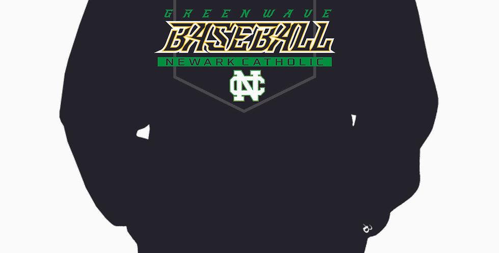 Newark Catholic Baseball Black Cotton Crew with Pocket