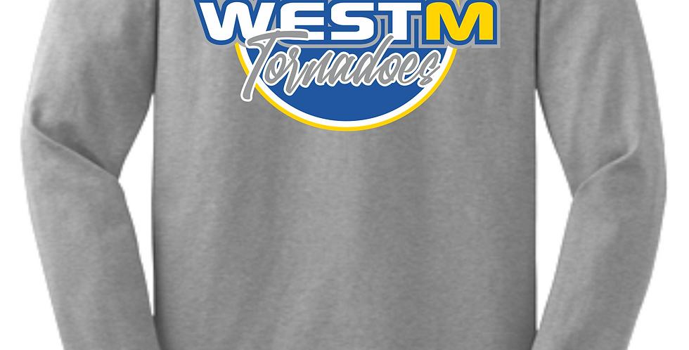 West M Grey Cotton Longsleeve