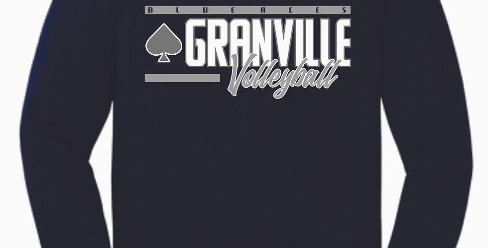 Granville Volleyball Navy Cotton Longsleeve