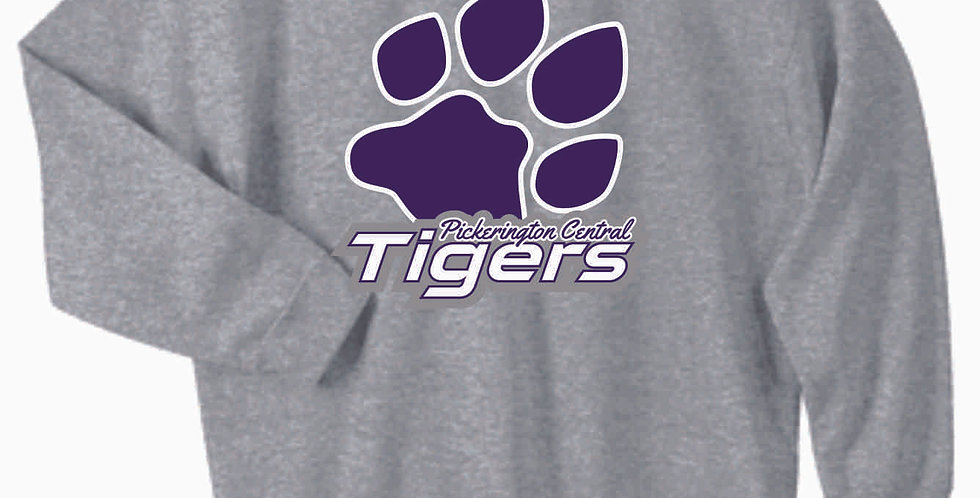Tiger Paw Print Cotton Crew