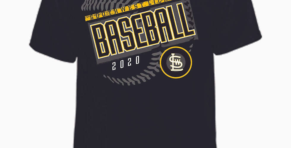 SWL Baseball Black Cotton T Shirt