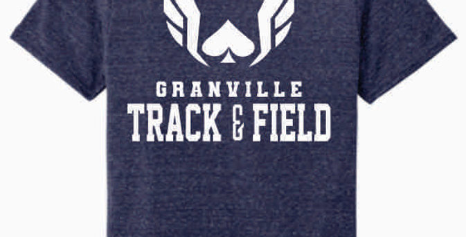 Granville Track and Field Original Navy Soft T shirt