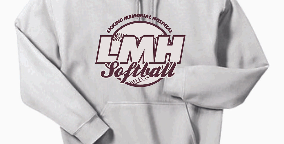 Newark Youth Softball LMH White Cotton Hoody