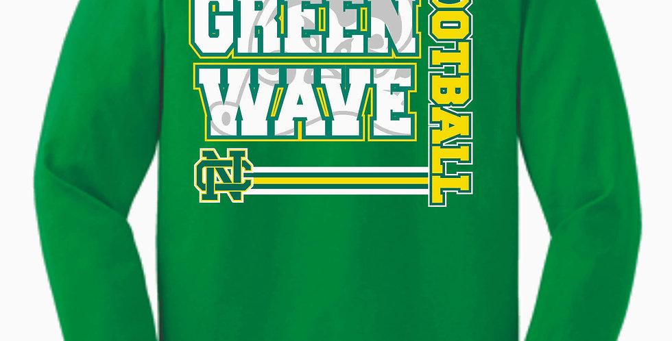 NC Football Kelly Green Cotton Longsleeve