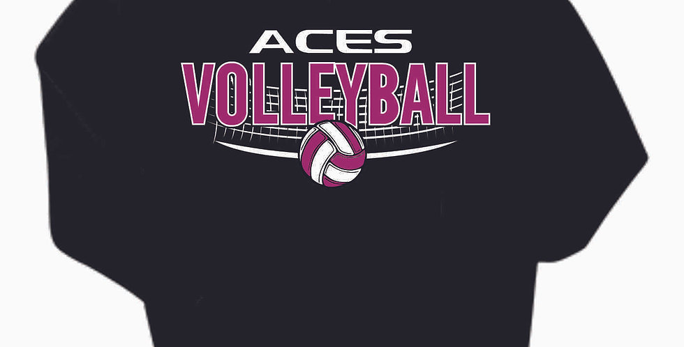Aces Volleyball Original Black Cotton Hoody