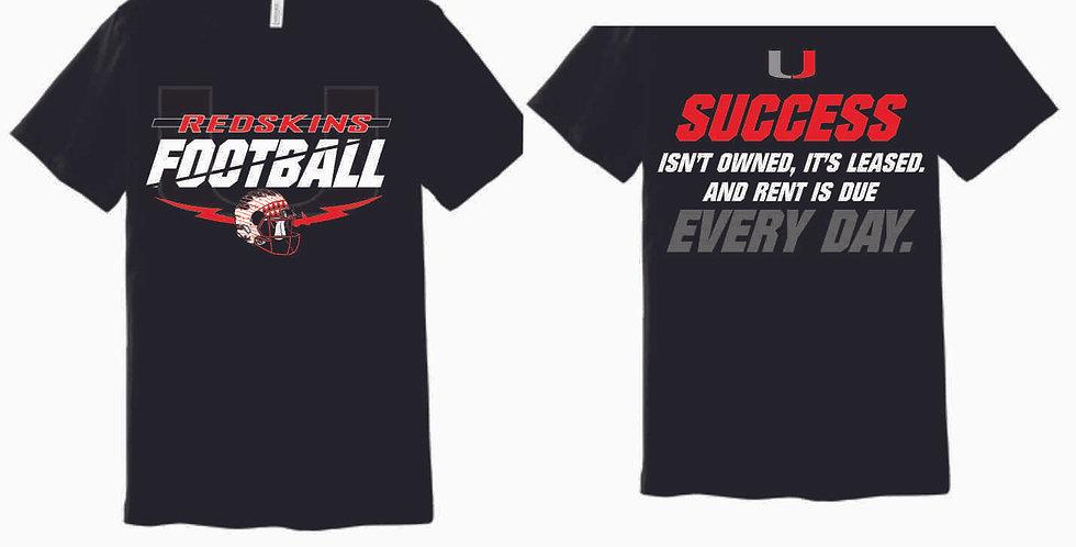 Utica Football Black FB Soft T Shirt