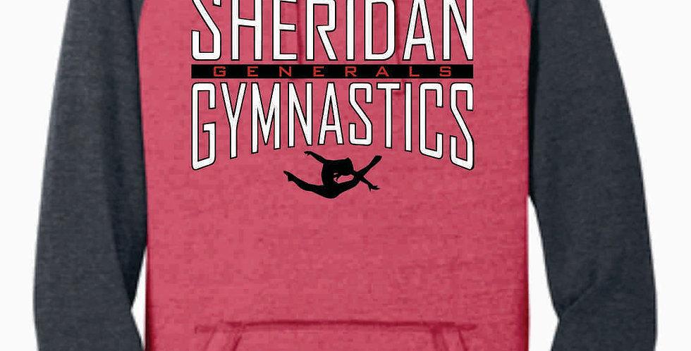 Sheridan Gymnastics Red Two Toned Hoody