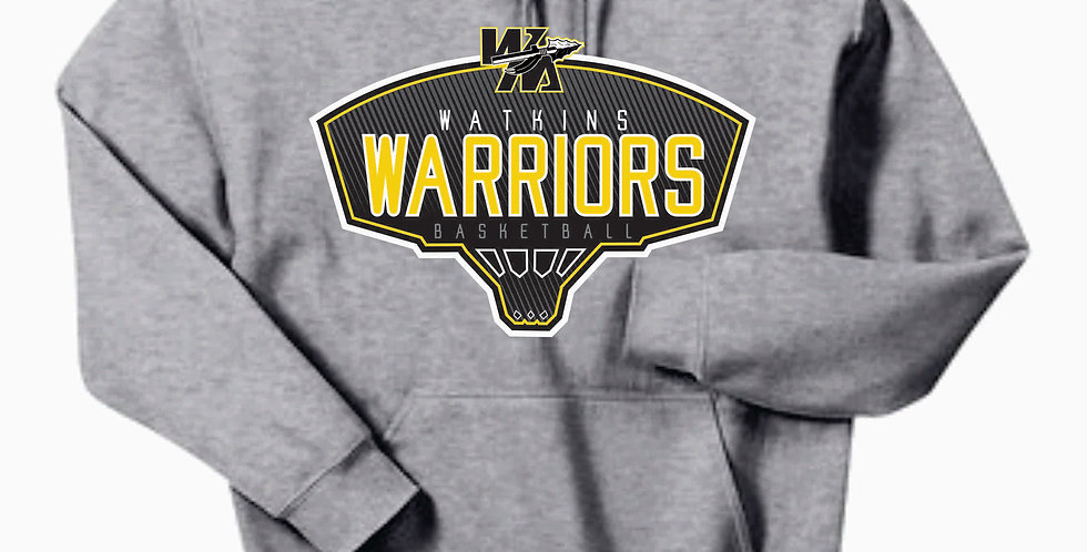Watkins Youth Basketball Grey Cotton Hood