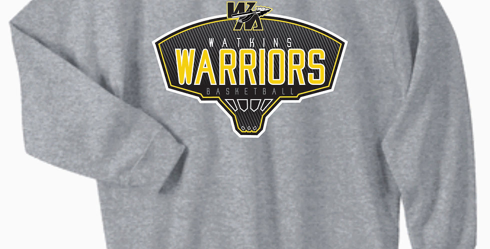 Watkins Youth Basketball Grey Cotton Crew