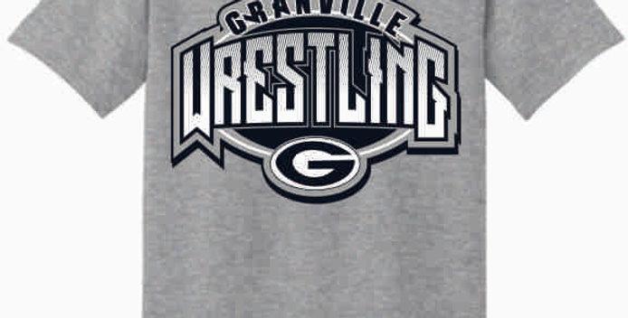 GHS Wrestling Grey Cotton T-Shirt