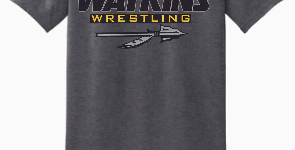 Watkins Youth Wrestling Dk Grey Cotton T Shirt