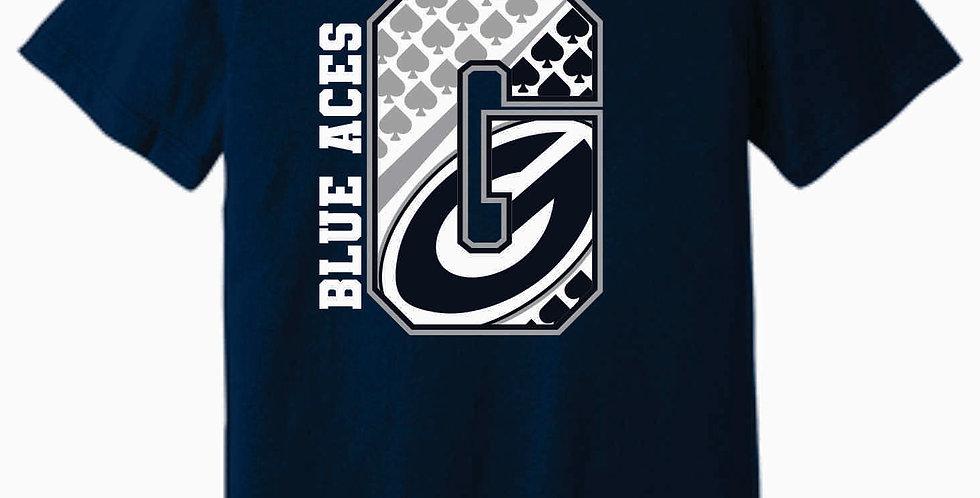 "Blue Aces Soft ""G"" Navy T shirt"