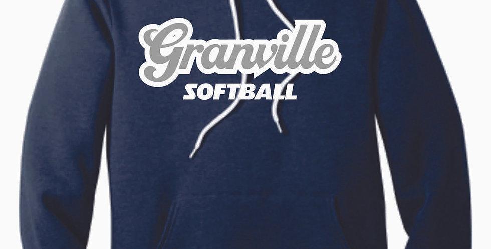 Granville Softball Canvas Navy Script Hood