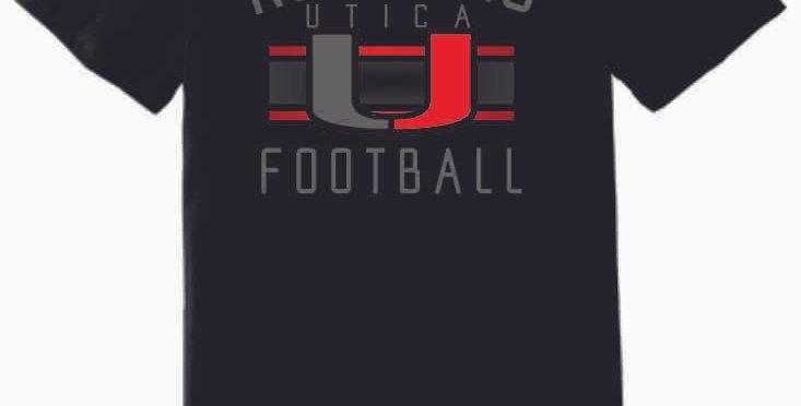 Utica Football Black Soft T Shirt