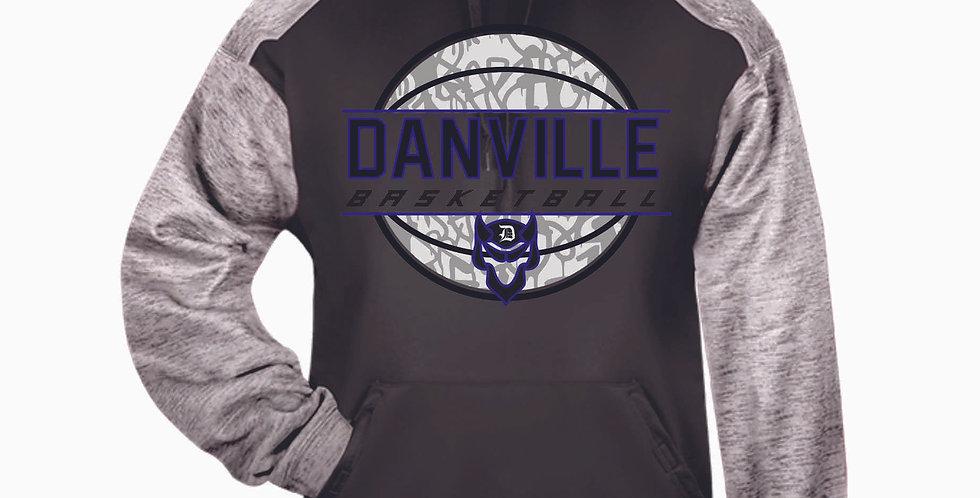 Danville Basketball Grey Tonal Blend Poly Hood