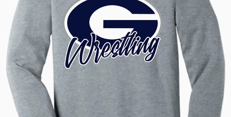 Granville Wrestling Soft Simple Grey Longsleeve T shirt