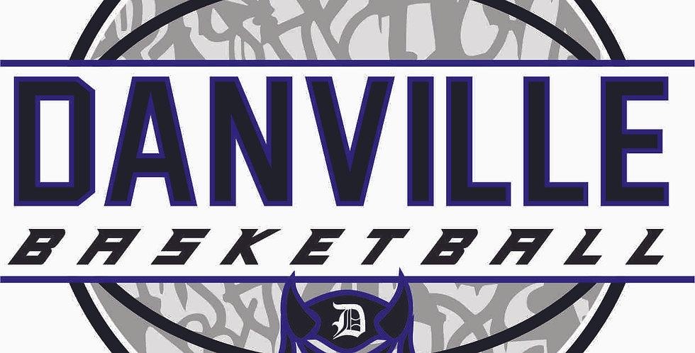 Danville Basketball Window Decal