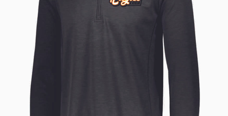 LCCA Black Polyester 1/4 Zip