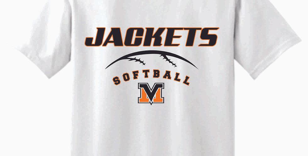 Mount Vernon Softball White Cotton T Shirt