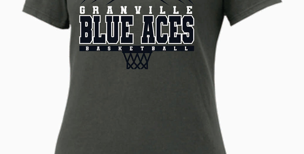 GHS Nike Basketball Grey Ladies Core Cotton Scoop Neck Tee