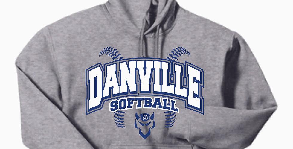 Danville Softball Cotton Grey Hoody