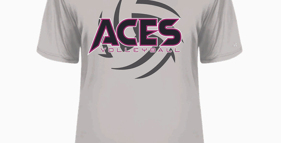 Aces Volleyball Grey Dri Fit Shortsleeve